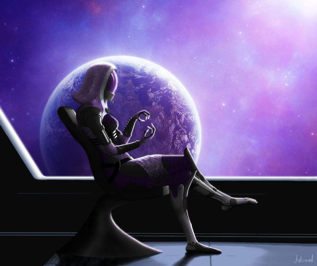 Tali in the chair by Antimad1