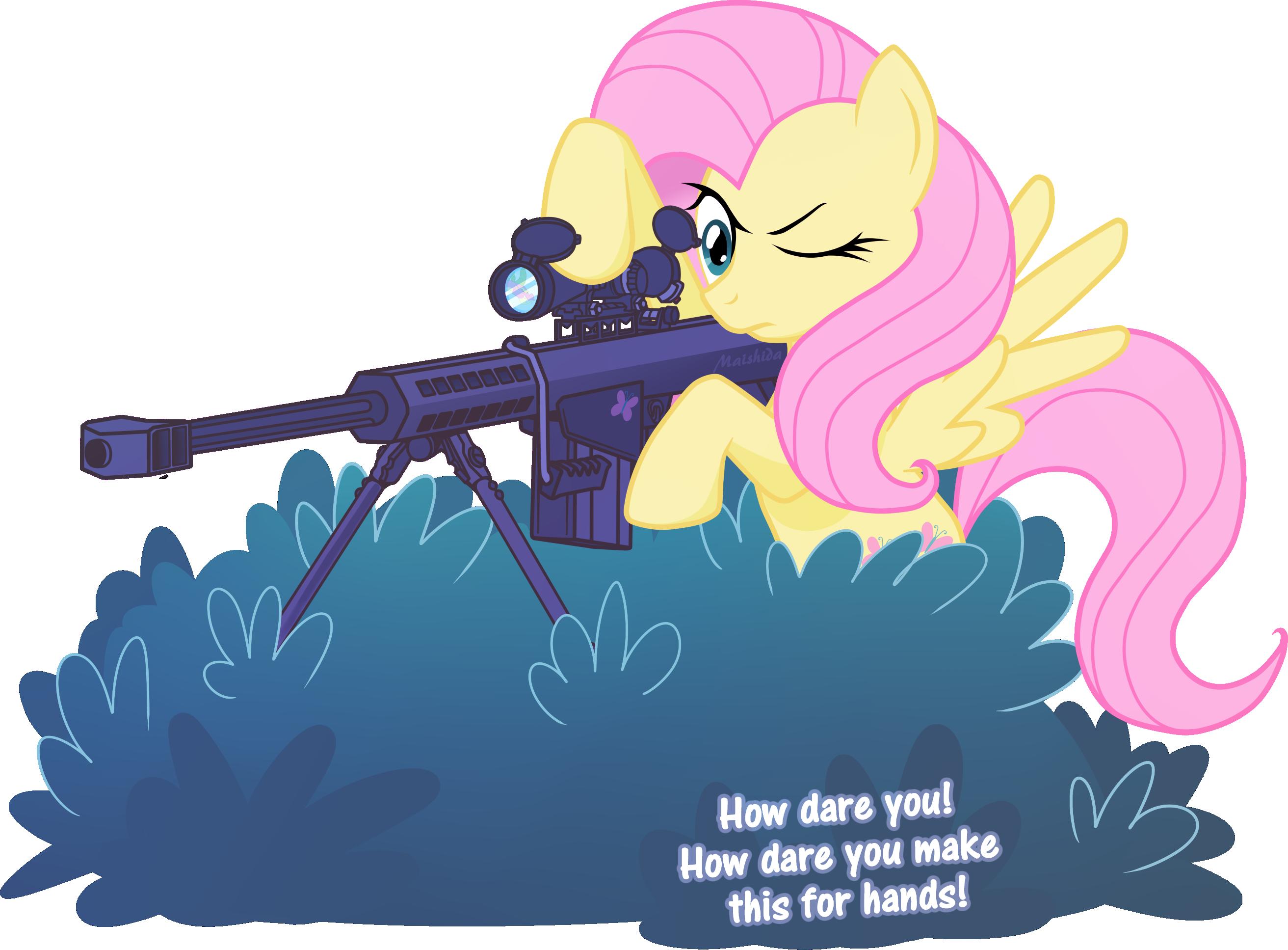 Sniper Fluttershy by Maishida