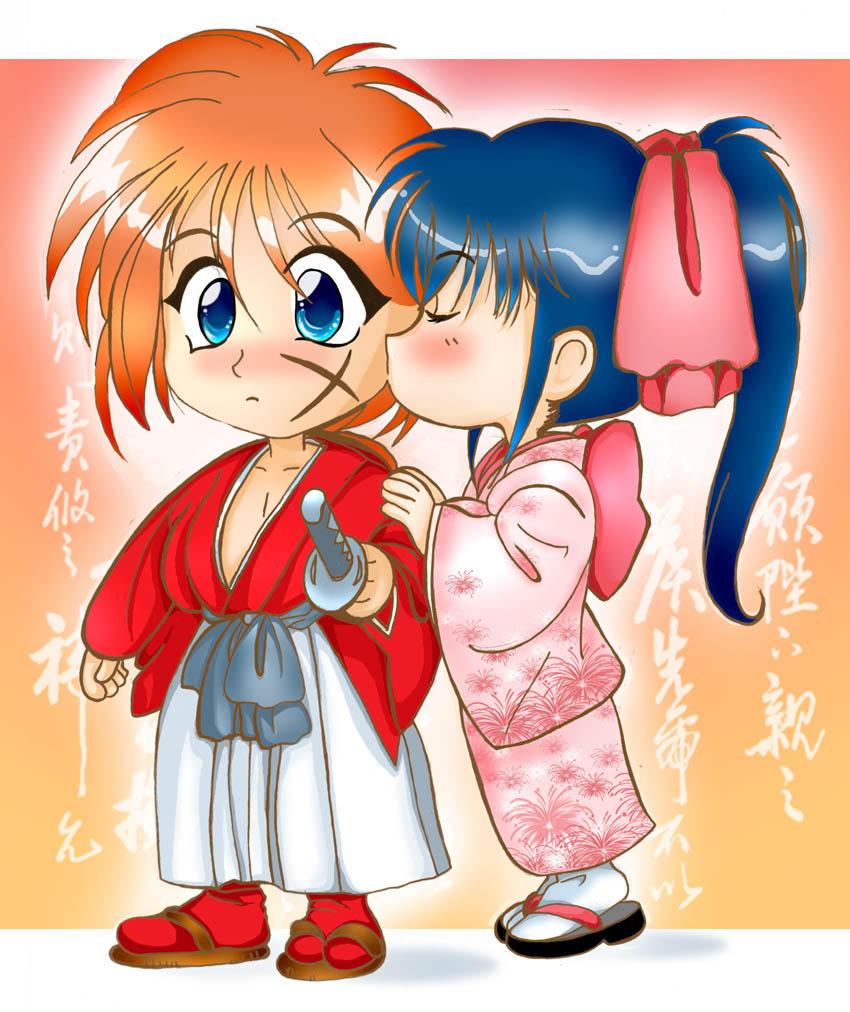 Kenshin and Kaoru kiss by Adriana-Usagi on DeviantArt