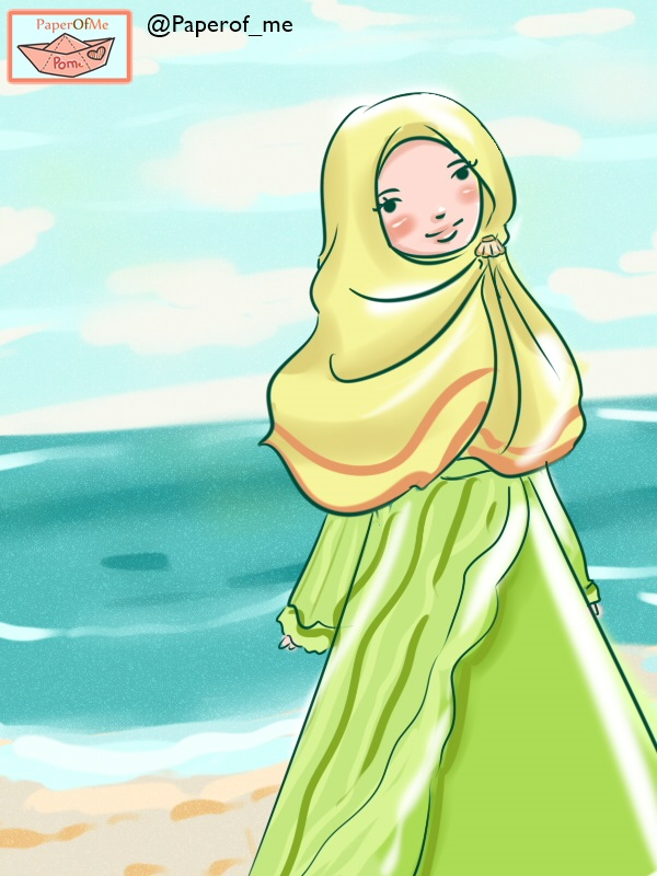 muslimah in the beach :D by fiyalayanfa2