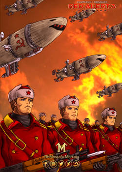 The Soviet march under red sky