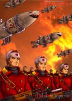 The Soviet march under red sky by DrMostafaMortaja