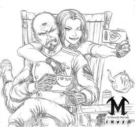 RA2 Yuri and Tanya tea break XD