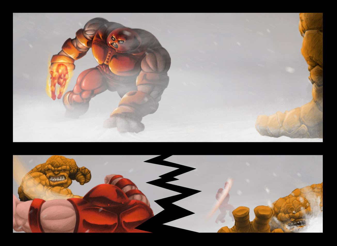 Juggernaut vs. Thing Final by brownboot on DeviantArt
