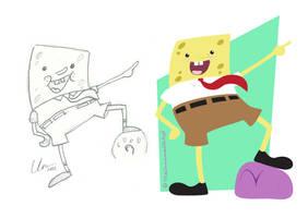 Spongebob Re-imagined by TheUnnamedArtist