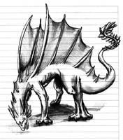 Dragon sketch by SpirityTheDragon