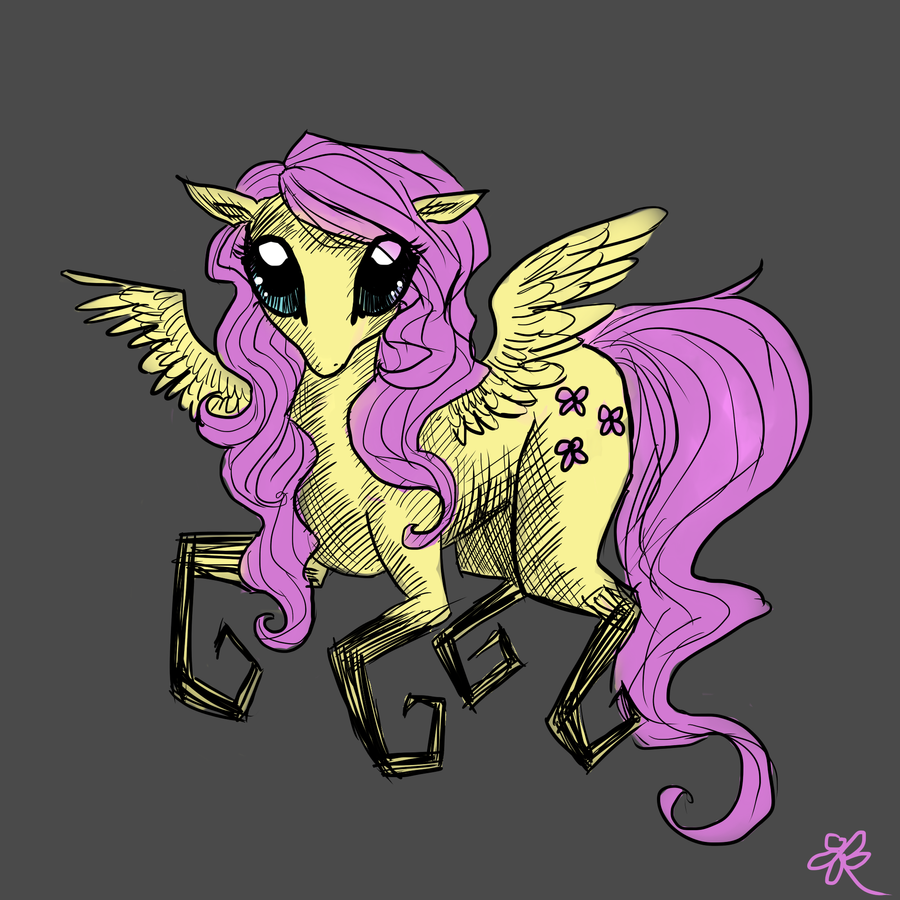Creepy Fluttershy by Prayselove