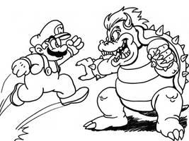 Mario VS Bowser by ProfessorMegaman