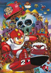 Mega Man 2 Poster - German Magazine by ProfessorMegaman