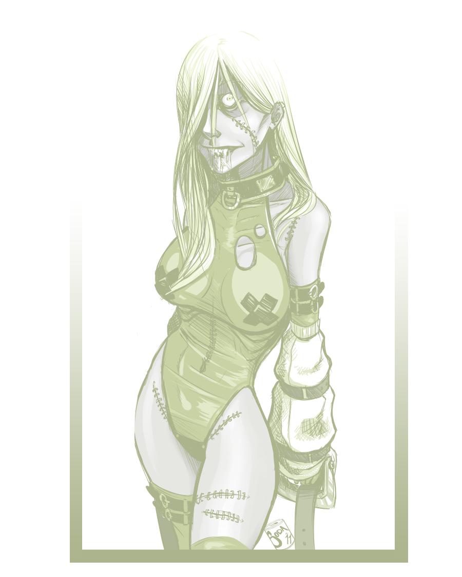 Emmelia Sketch by InkyBrain