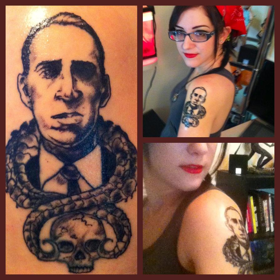 Lovecraft Tattoo by InkyBrain