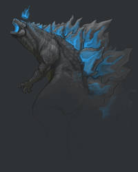 Godzilla by InkyBrain