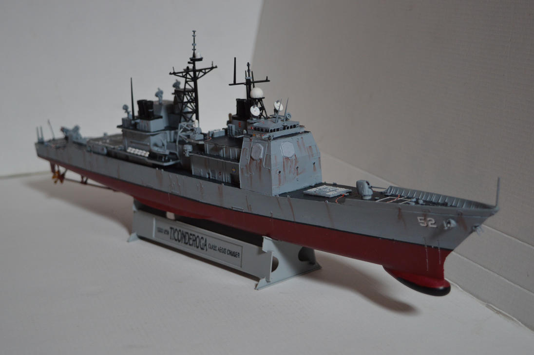 1/350 USS Bunker Hill (CG-52) - WIP 4 by janda700