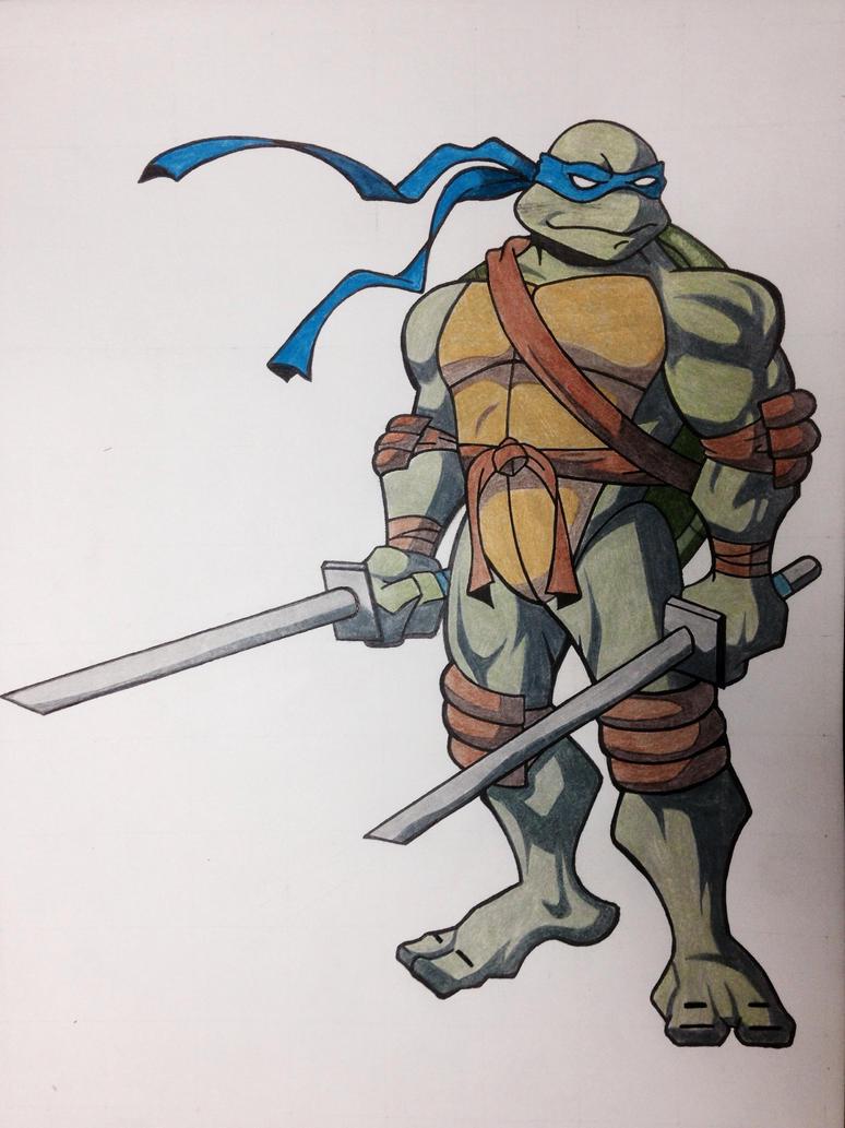 Line Art Ninja Turtles : Leonardo drawing ninja turtles by claytowerz on deviantart