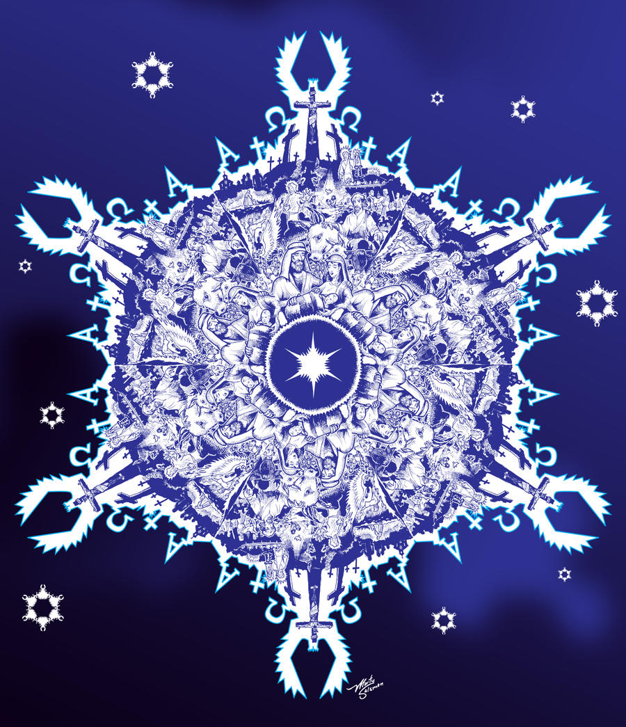 CHRISTmas Snowflake by MartySalsman
