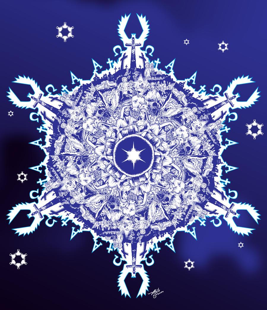 CHRISTmas Snowflake by MartySalsman