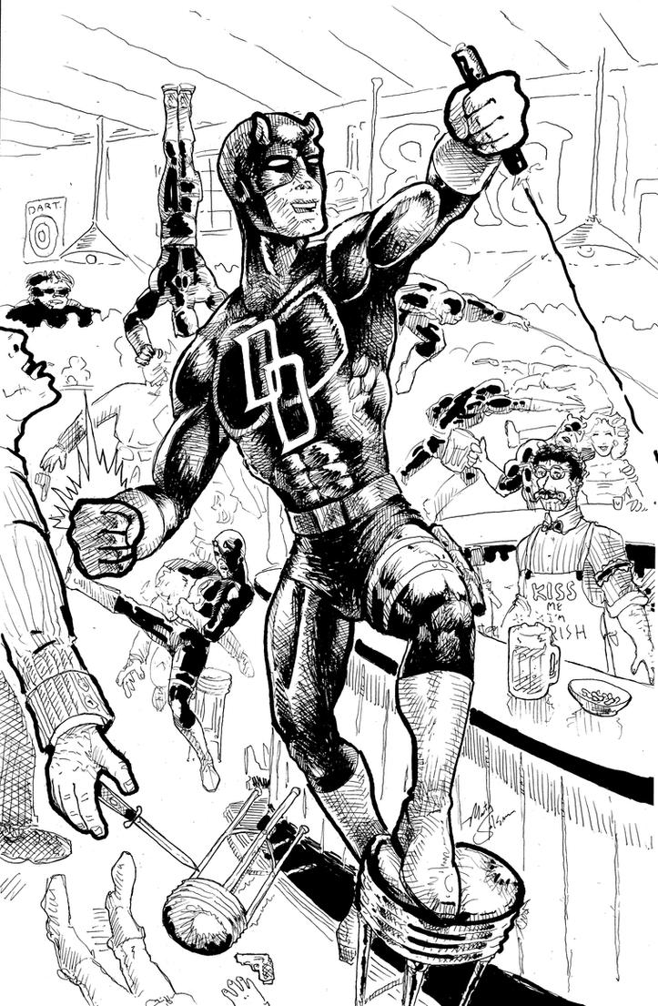 Daredevil50thBnW by MartySalsman