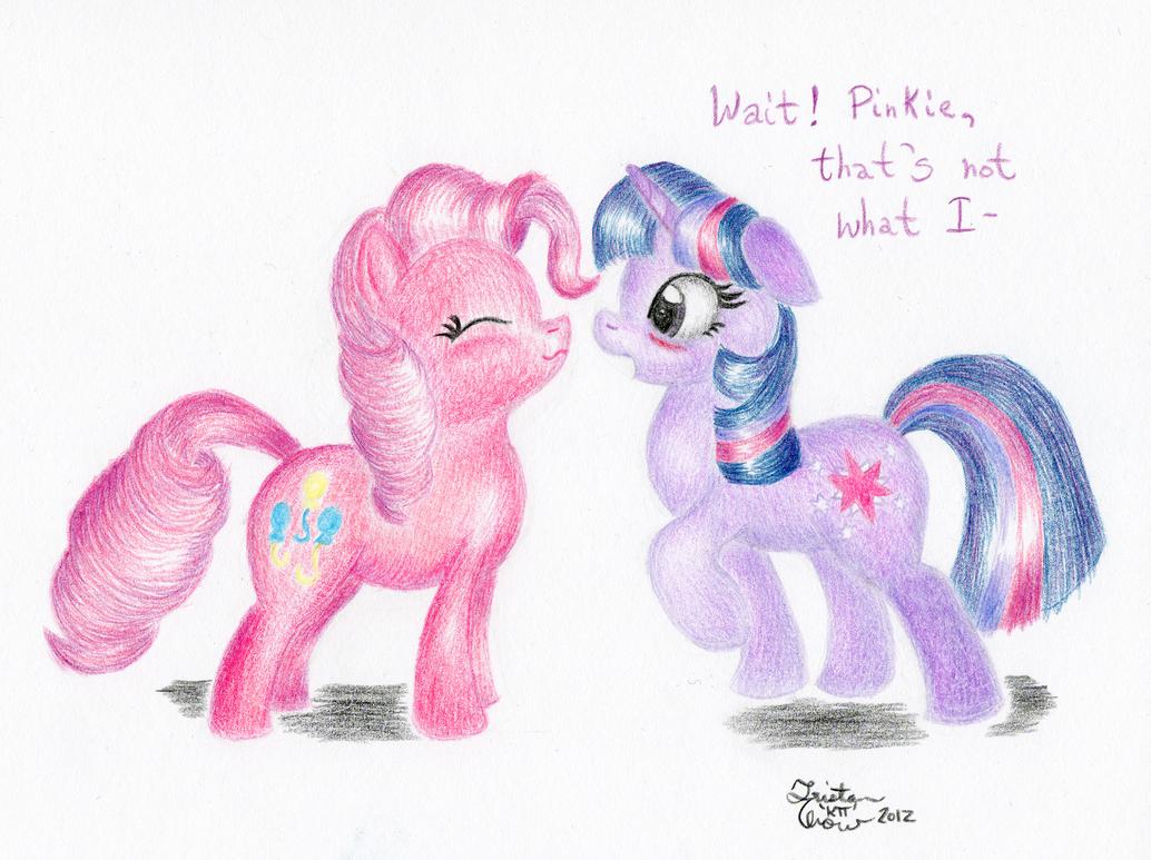 Twi and Pinkie's Miscommunication by KuroiTsubasaTenshi
