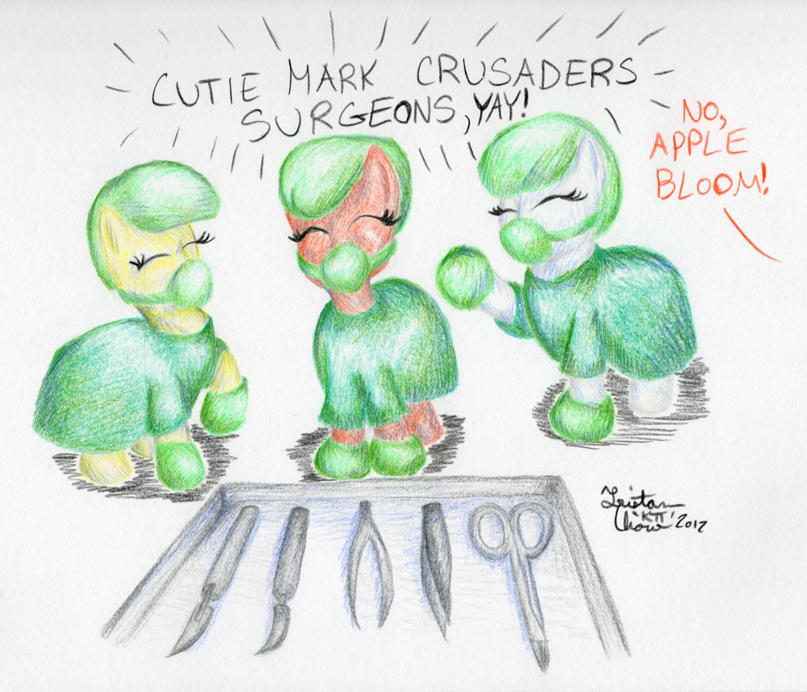 Aug NATG2012 8: Cutie Mark Crusader Surgeons, Yay! by KuroiTsubasaTenshi