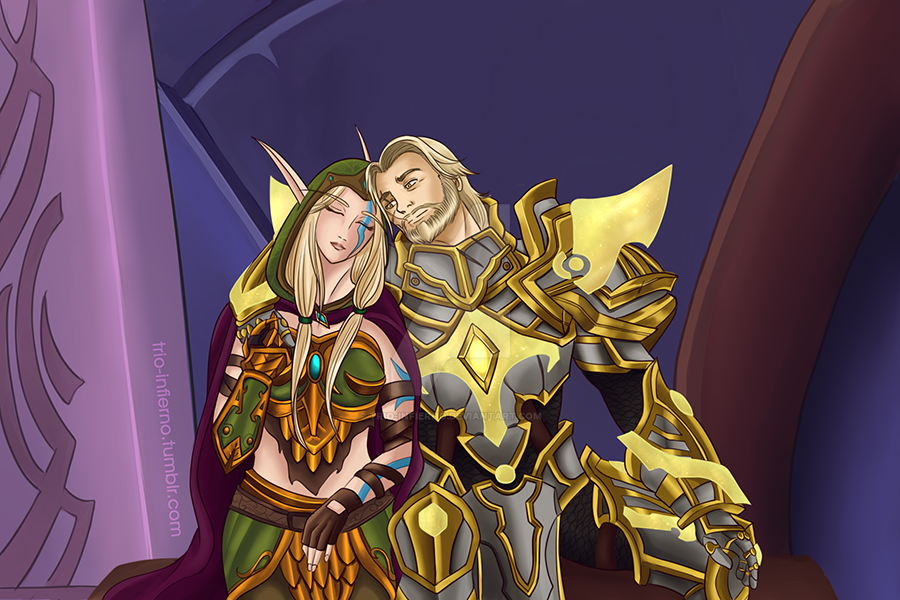 Alleria and Turalyon by Trio-Infierno ...