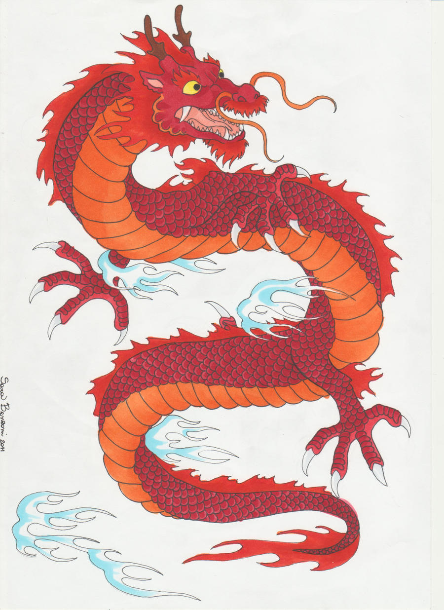 Traditional japanese dragon by darkdemonwolf on deviantart for Japanese dragon painting
