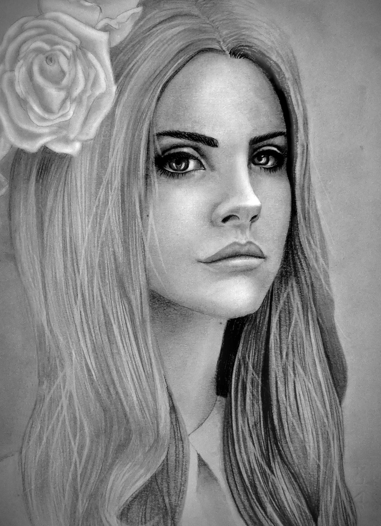 Lana Del Rey portrait by Ali-Sea on DeviantArt