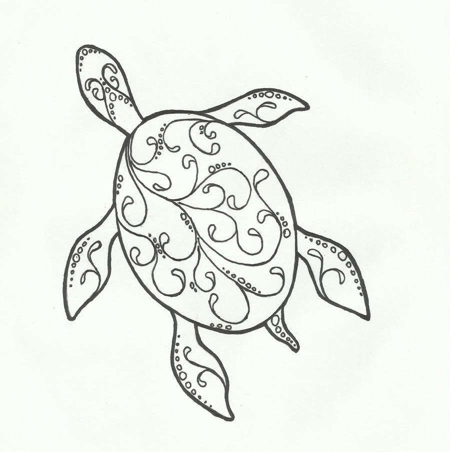 Line Drawing Sea Turtle : Turtle lines by kritickilled on deviantart