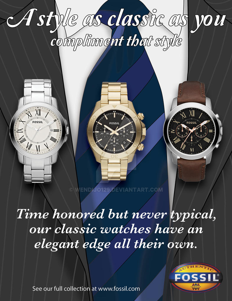 Abstract Fossil Watch Ad by KriticKilled on DeviantArt