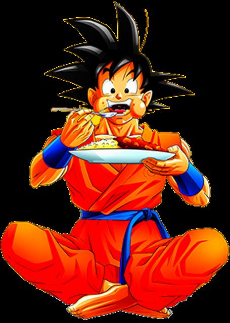 Goku eating by AlexelZ on DeviantArt