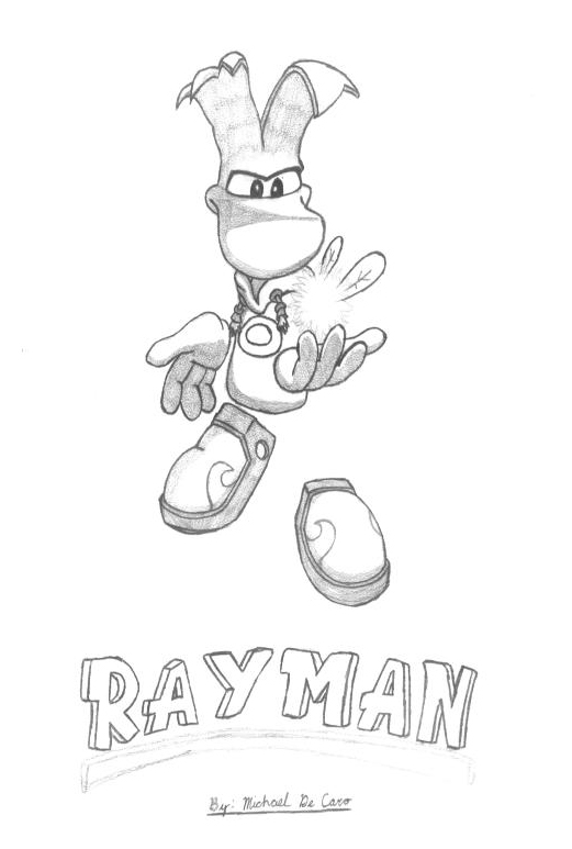 Rayman Legends Free Coloring Pages