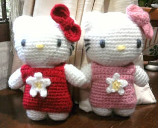 Kitty amigurumi by thujashop