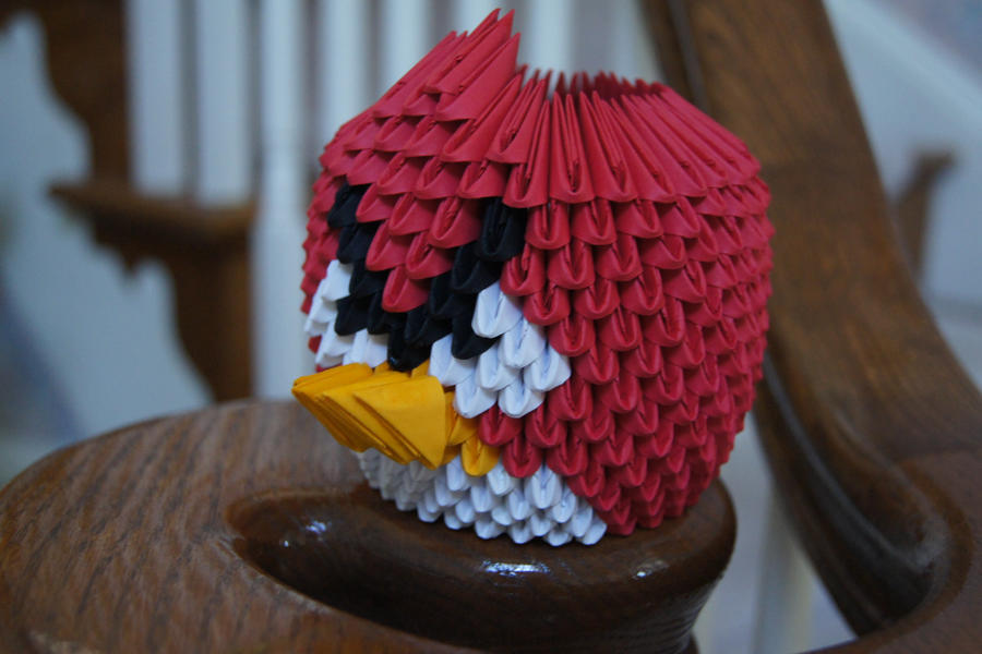 3d origami angry bird by sabrinayen