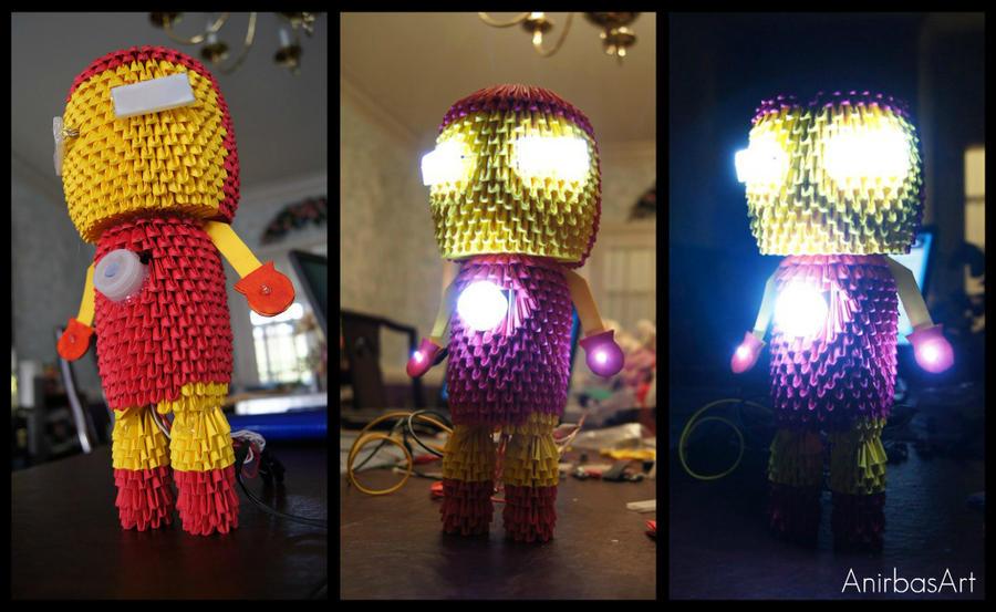 3D Origami: Iron Man by sabrinayen