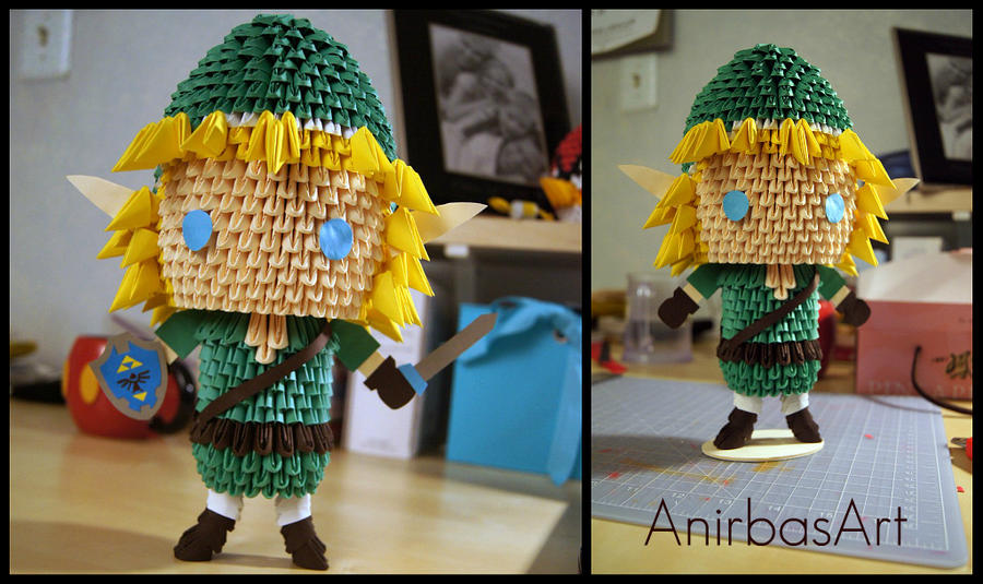 3D Origami: Link - The Legend of Zelda by sabrinayen