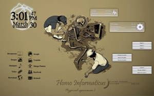 Rainmeter - Homo Informaticus by Athox