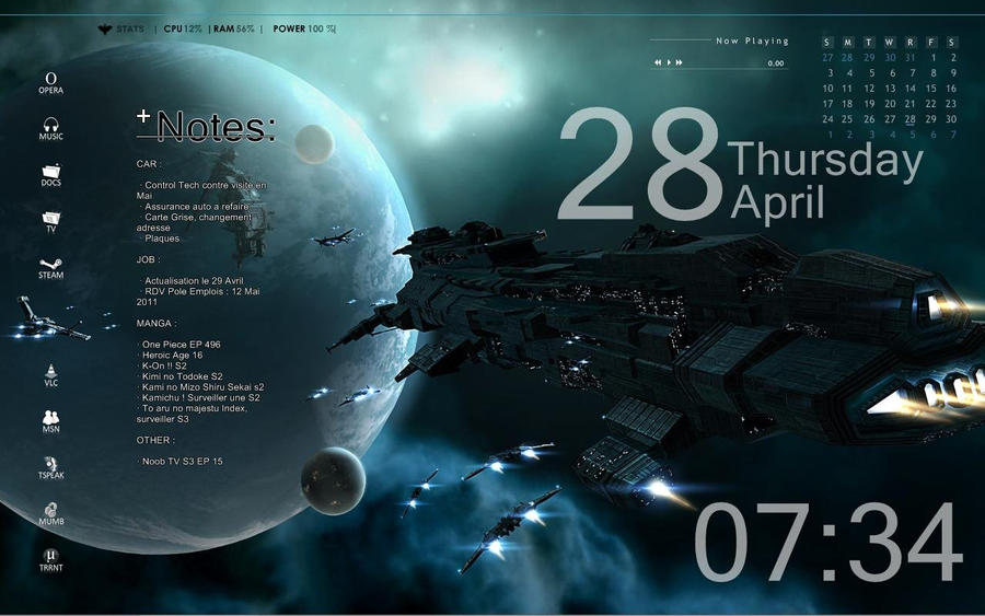Rainmeter - Space Theme