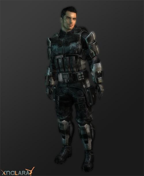 XNALara Kaidan Alenko Alt Armor Model by ObscureMemories