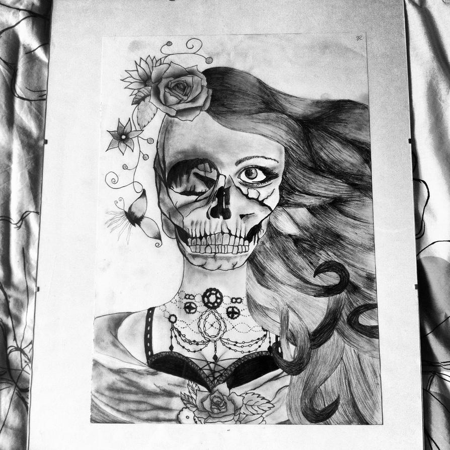 Skull Lady by art-girl111