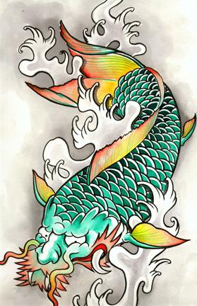 The dragon koi by tattookame on deviantart for Koi dragon meaning