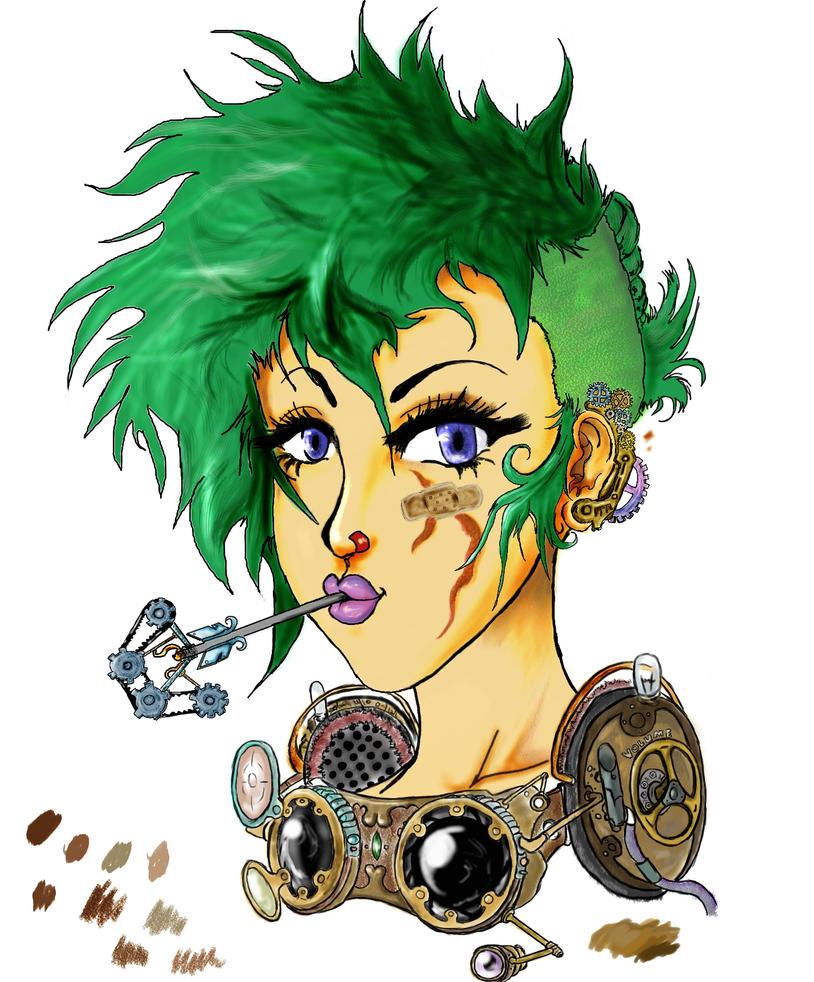 Steampunk girl by Strider-X