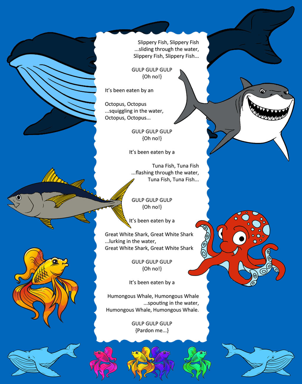 Slippery fish song by nykol haebrd on deviantart for Fish songs for preschoolers