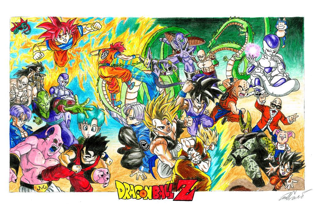 Dragonball Z Poster by nykol-haebrd