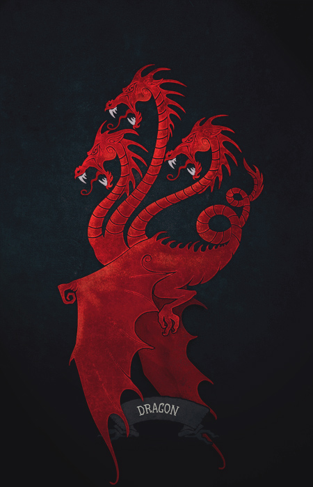 Targaryen poster (updated) by 7Narwen