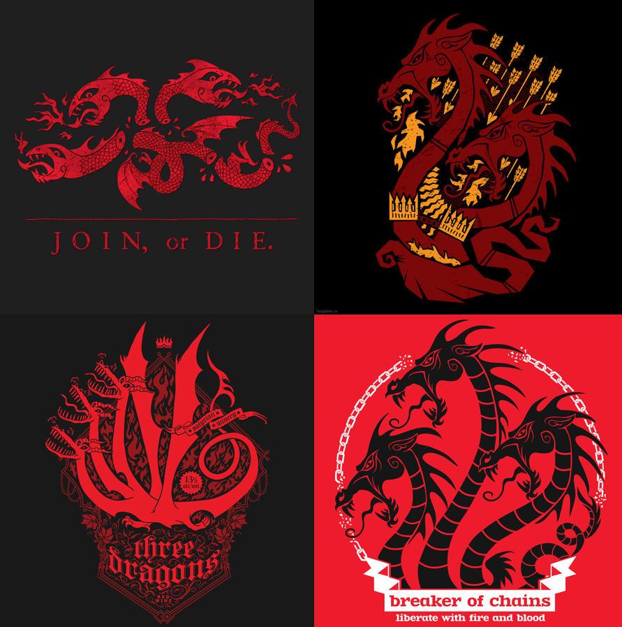 Dragons (different version) by 7Narwen