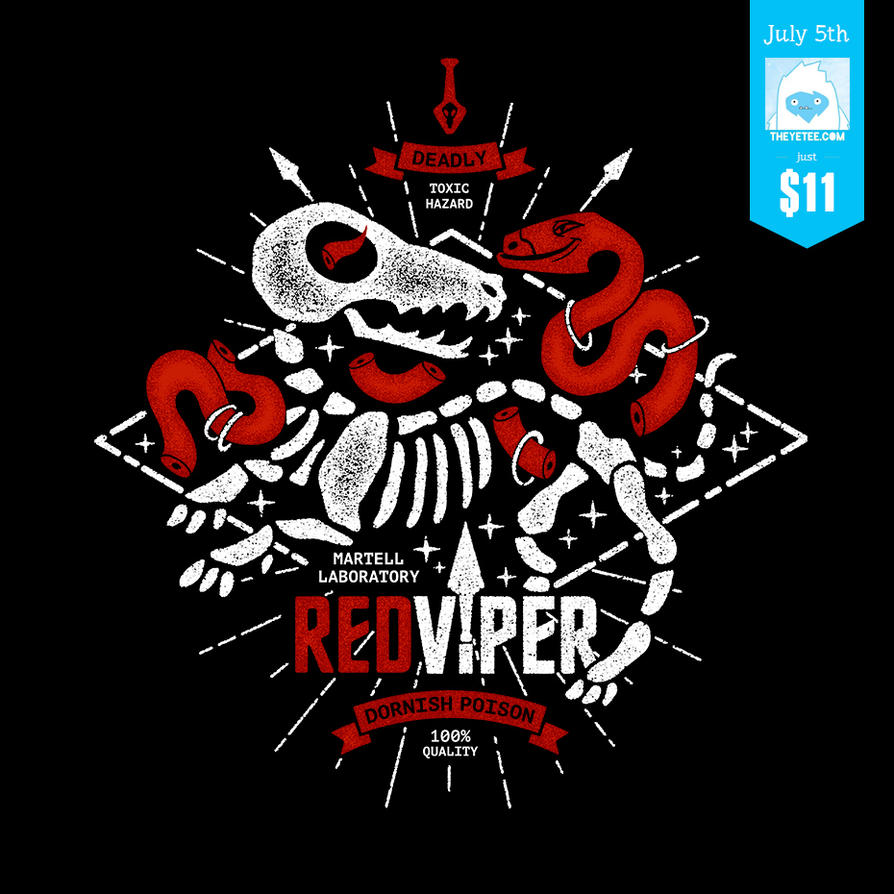 Red Viper Poison label by 7Narwen