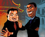 Rush Hour Caricature