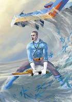 Blue Power Rangers Samurai Art by Sopeh