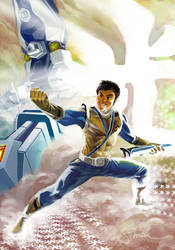 Gold Power Rangers Samurai Art by Sopeh