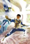 Gold Power Rangers Samurai Art