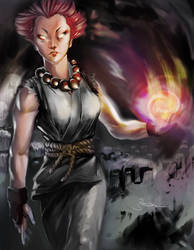 Gender swap: Female Akuma by Sopeh